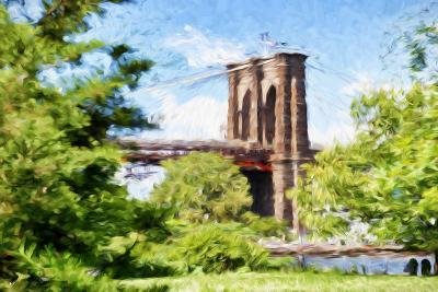 The Brooklyn Bridge - In the Style of Oil Painting-Philippe Hugonnard-Giclee Print