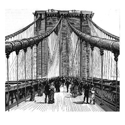 The Brooklyn Bridge, New York, 1883--Giclee Print