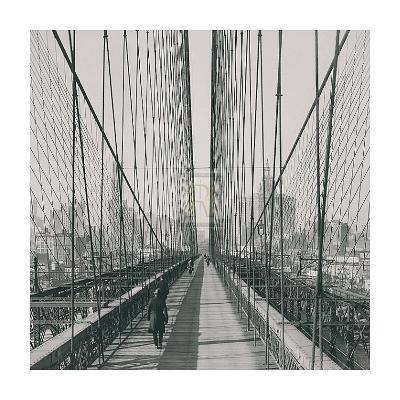 The Brooklyn Bridge, Sunday PM-The Chelsea Collection-Art Print