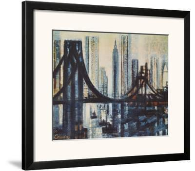 The Brooklyn-Bridge-Marcel Gromaire-Framed Art Print