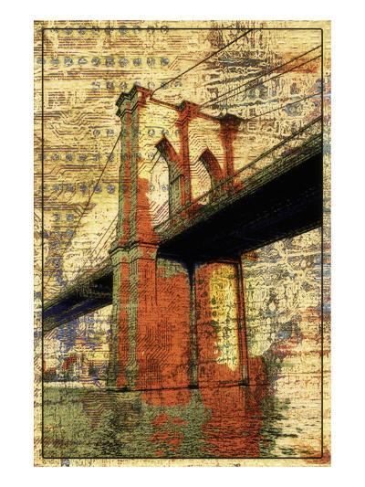 The Brooklyn Bridge-Irena Orlov-Art Print