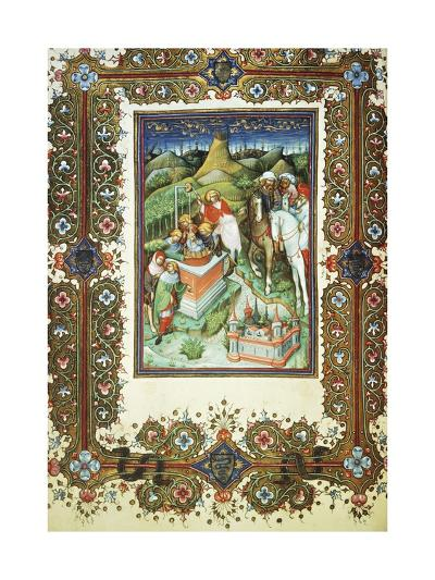The Brothers Selling Joseph, Miniature by Belbello of Pavia, from the Visconti Book of Hours--Giclee Print
