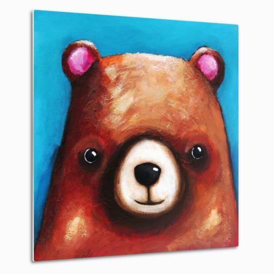 The Brown Bear-Lucia Stewart-Metal Print