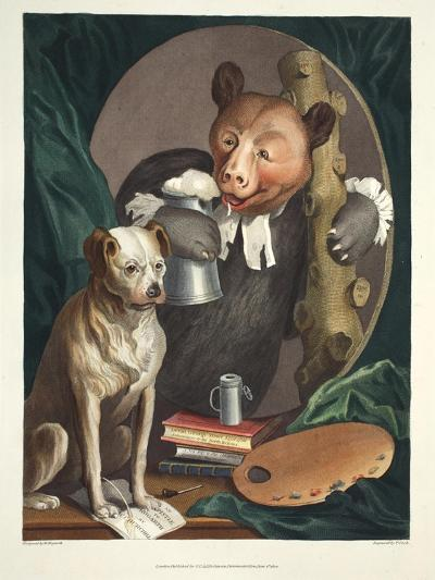 The Bruiser Charles Churchill, Once the Reverend, in the Character of a Russian Hercules,…-William Hogarth-Giclee Print