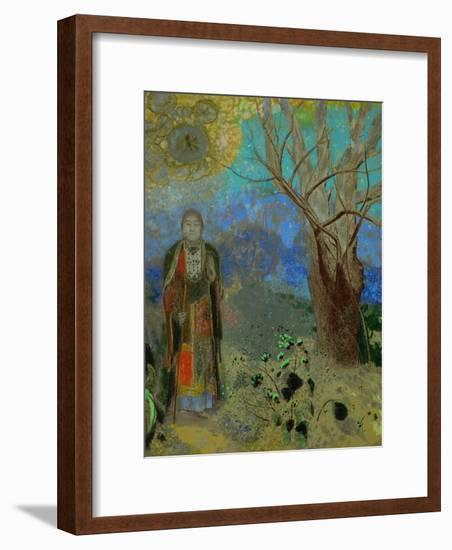 The Buddha, 1906-1907-Odilon Redon-Framed Premium Giclee Print