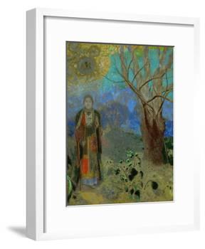The Buddha, 1906-1907-Odilon Redon-Framed Giclee Print