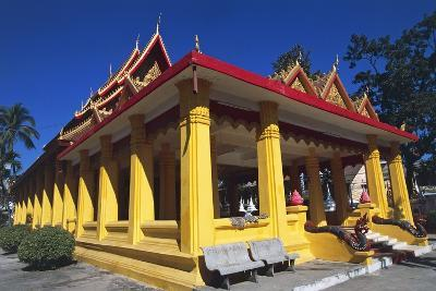 The Buddhist Wat Mixai Temple in Vientiane--Photographic Print
