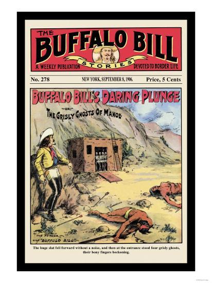The Buffalo Bill Stories: Buffalo Bill's Daring Plunge--Art Print