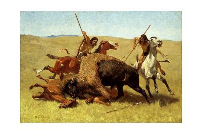 The Buffalo Hunt-Frederic Sackrider Remington-Giclee Print