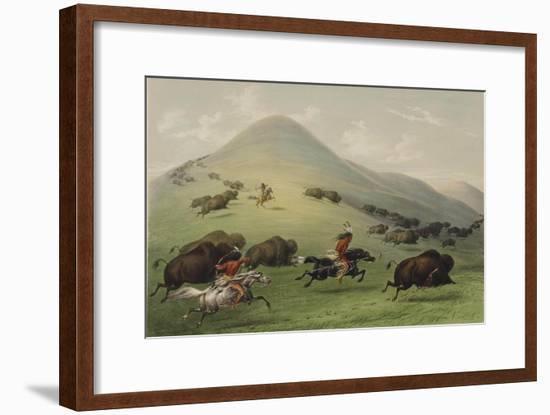 The Buffalo Hunt-George Catlin-Framed Giclee Print