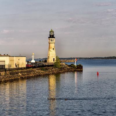 The Buffalo Main Lighthouse on the Buffalo River New York State-Joe Restuccia-Photographic Print