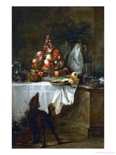 The Buffet, 1728-Jean-Baptiste Simeon Chardin-Giclee Print