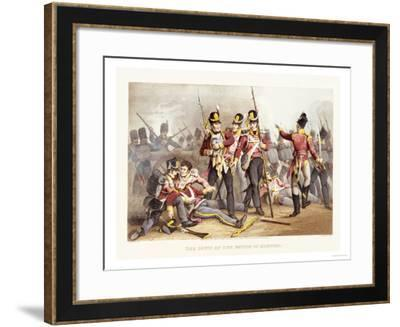 The Buffs at the Battle of Albuera- Dubourg-Framed Giclee Print