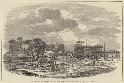 The Building in Hyde Park for the Great Exhibition of 1851, General View of the Works--Giclee Print