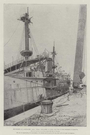 The Building of a Battle-Ship-Joseph Holland Tringham-Giclee Print