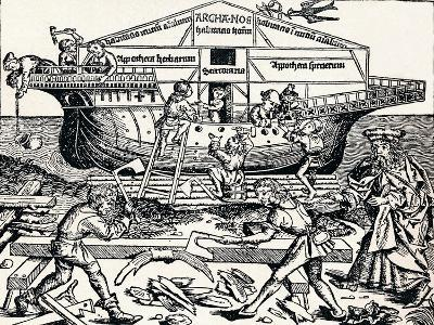 The Building of the Ark Superintended by Noah, (1493), 1903-Hartmannus Schedel-Giclee Print