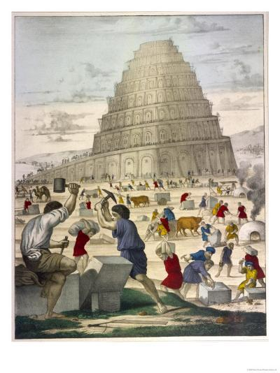 The Building of the Great Tower--Giclee Print