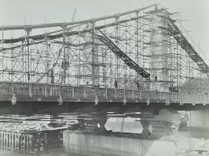 The Building of the New Chelsea Bridge, London, 1937