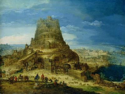 The Building of the Tower of Babel-Hendrick Van Cleve-Giclee Print