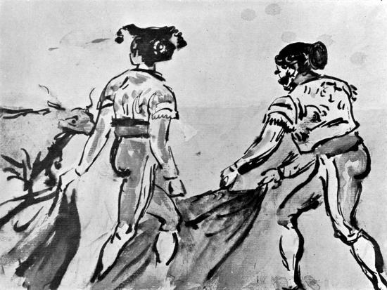 The Bull Fight, 19th Century-Constantin Guys-Giclee Print