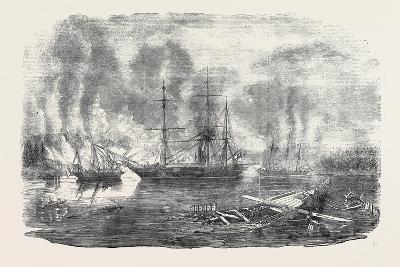 The Bulldog and Starling Intercepting Trading Vessels-John Wilson Carmichael-Giclee Print