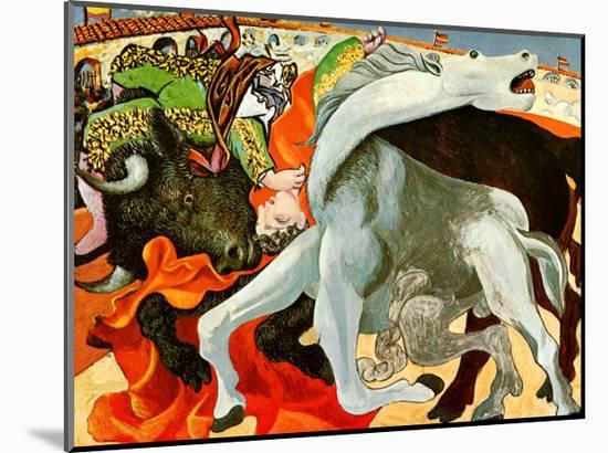 The Bullfight-Pablo Picasso-Mounted Art Print