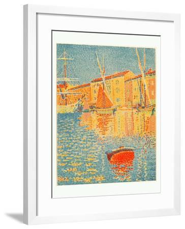 The Buoy (La Bouee), 1894-Paul Signac-Framed Giclee Print