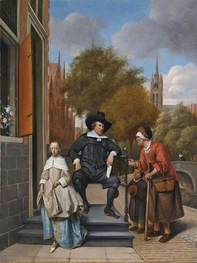 The Burgher of Delft and His Daughter, 1655-Jan Havicksz^ Steen-Giclee Print