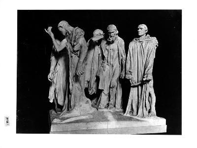 The Burghers of Calais, 1889 (Plaster) (B/W Photo)-Auguste Rodin-Giclee Print