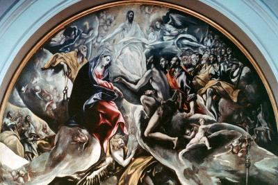 The Burial of Count Orgaz' (Detail), 1586-1588-El Greco-Giclee Print