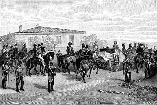 The Burial of Lord Raglan Near Sevasopol, 1855-William Simpson-Giclee Print