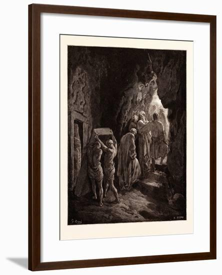 The Burial of Sarah-Gustave Dore-Framed Giclee Print