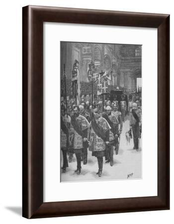 'The Burial of Wellington', c1890-Henry Marriott Paget-Framed Giclee Print