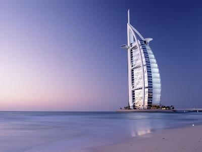 The Burj Al-Arab or Arabian Tower at Dusk-Design Pics Inc-Photographic Print