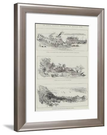The Burmese Expedition, Sketches on the Irrawaddy River--Framed Giclee Print