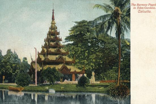 'The Burmese Pagoda in Eden-Gardens. Calcutta', c1900-Unknown-Photographic Print