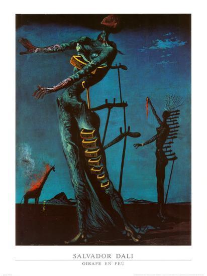 The Burning Giraffe, c. 1937-Salvador Dal?-Art Print