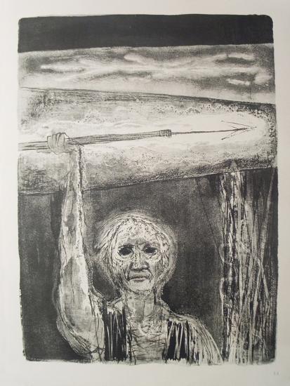 The Burning Harpoon-Benton Spruance-Art Print