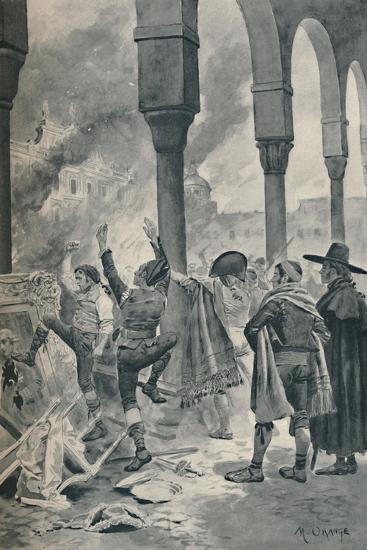 'The Burning of a Palace of Godoy By The Populace at Madrid', 1896-Unknown-Giclee Print