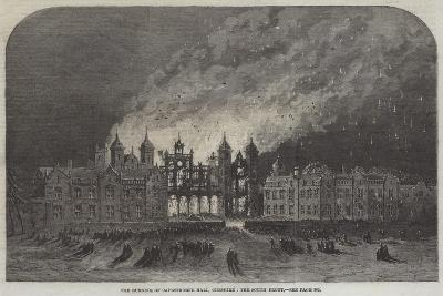 The Burning of Capesthorne Hall, Cheshire, the South Front--Giclee Print