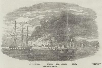 The Burning of Greytown--Giclee Print