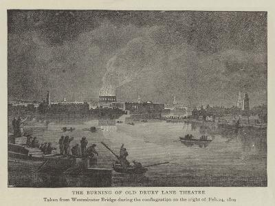 The Burning of Old Drury Lane Theatre--Giclee Print