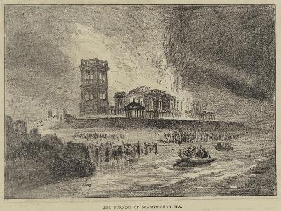 The Burning of Scarborough Spa--Giclee Print