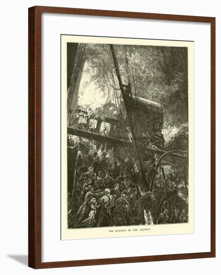 The Burning of the Amazon--Framed Giclee Print
