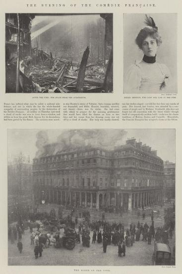 The Burning of the Comedie Francaise--Giclee Print