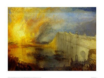 The Burning of the Houses of Parliament (2) 1835-J^ M^ W^ Turner-Giclee Print