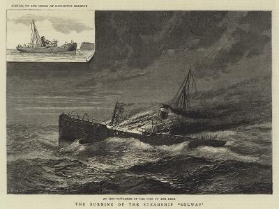 The Burning of the Steamship Solway--Giclee Print