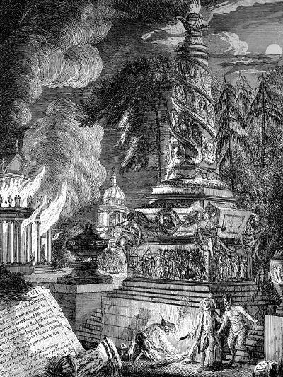 The Burning of the Temple at Ephesus, 1753-Paul Sandby-Giclee Print