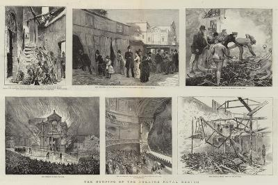 The Burning of the Theatre Royal, Exeter--Giclee Print