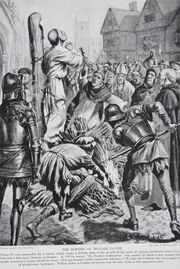 The Burning of William Sawtrey in 1401--Giclee Print